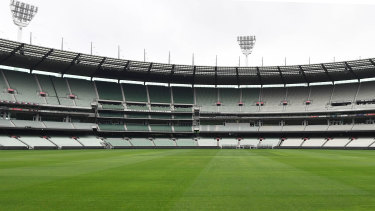 The MCG stands were empty all season, and barely any games were played at the ground.