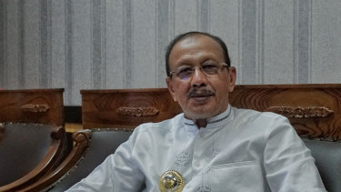 Chinese investment is not welcome: Natuna's Bupati Abdul Hamid Rizal.