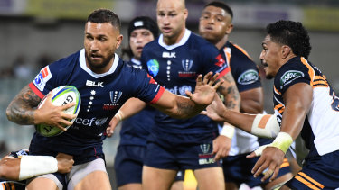 Commanding performance: Quade Cooper had a brilliant debut for the Melbourne Rebels against the Brumbies.