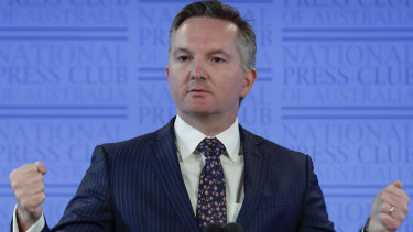 Shadow treasurer Chris Bowen asked the Treasury Secretary why the department was costing Labor Party policies.