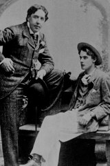 Wilde with the Marquess of Queensberry's son Lord Alfred Douglas - with whom he had formed an intimate relationship -  in Oxford, about 1893.