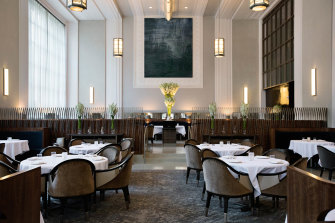 The main dining room at New York restaurant Eleven Madison Park.