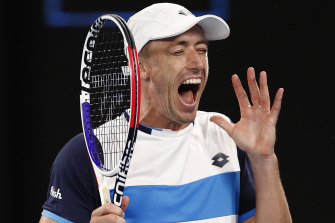 John Millman raced ahead in the tie-breaker but could not hold off Roger Federer.
