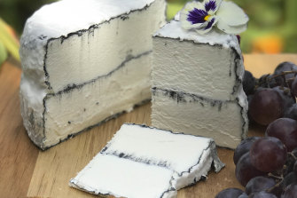 Some goat's cheese.