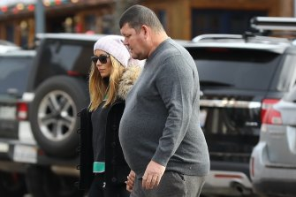 James Packer in Aspen with his partner Kylie Lim.