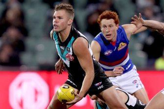 The night in question: Dan Houston faces the Western Bulldogs on August 3.