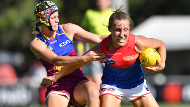 Karen Paxman (right) will need to be on song against the Crows at Casey Fields on Saturday.