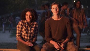 Amandla Stenberg and Harris Dickinson.