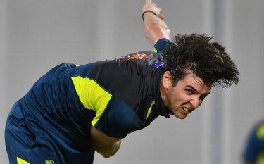 Quick fix: Josh Hazlewood's injury has opened the door for Jhye Richardson to make his Test debut.