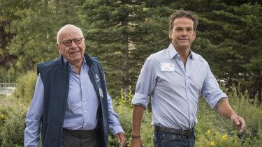Rupert and Lachlan Murdoch earlier in 2018.
