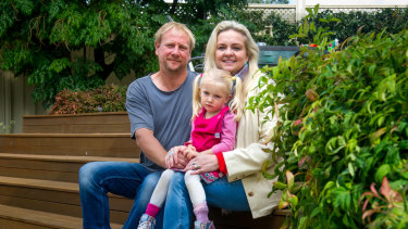 Greg Walton, with his wife Liz and daughter Willow, welcomed a promise to increase access to the instant asset write-off.