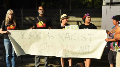 Protesters demand 10 sack 'Kerri-Anne KKKennerley' following racism row
