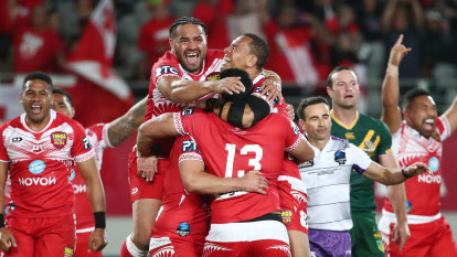 Tonga stun Australia in one of the greatest upsets in Test history