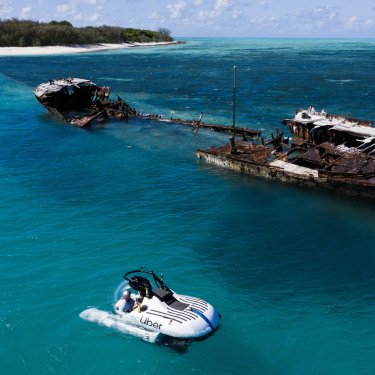 The submarine rideshare service will operate for a short time in the southern Great Barrier Reef before moving north.
