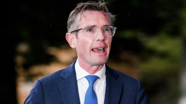 NSW Premier Dominic Perrottet announcing the end of his state's hotel quarantine system for fully vaccinated travellers.