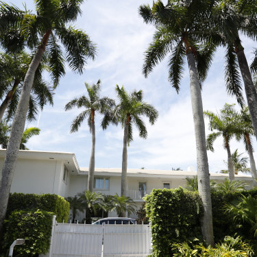 The Florida residence of Jeffrey Epstein in Palm Beach in 2019.