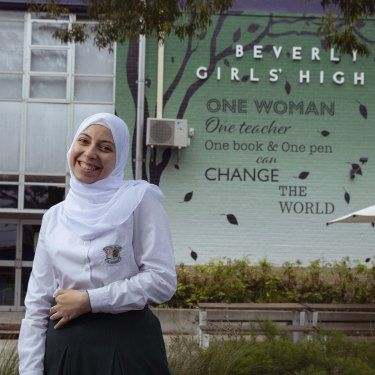 Beverly Hills Girls High School Year 12 student Roaa Ahmed wants to help women who don't have freedom, after living through the Egyptian revolution as a child.