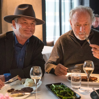 'Champagne is as rock and rolly as we get now,' says Nez, right, with Micky Dolenz.