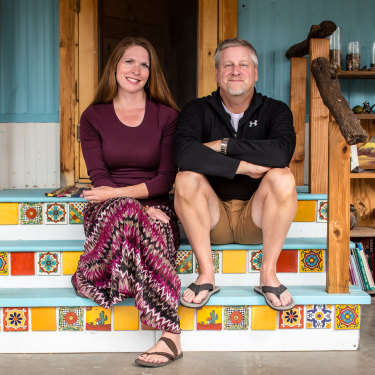 Alice and Michael Hutchins are divided on Trump.
