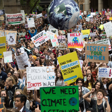 Students have taken to the streets to demand action on climate change.