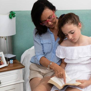 Zara Bortolin, 11, with mum Vanessa. The Bortolins have spent a five-figure sum on private tutors specialising in phonics.