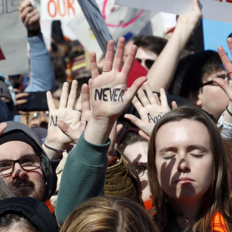 #NeverAgain: the March for Our Lives in Washington in March.