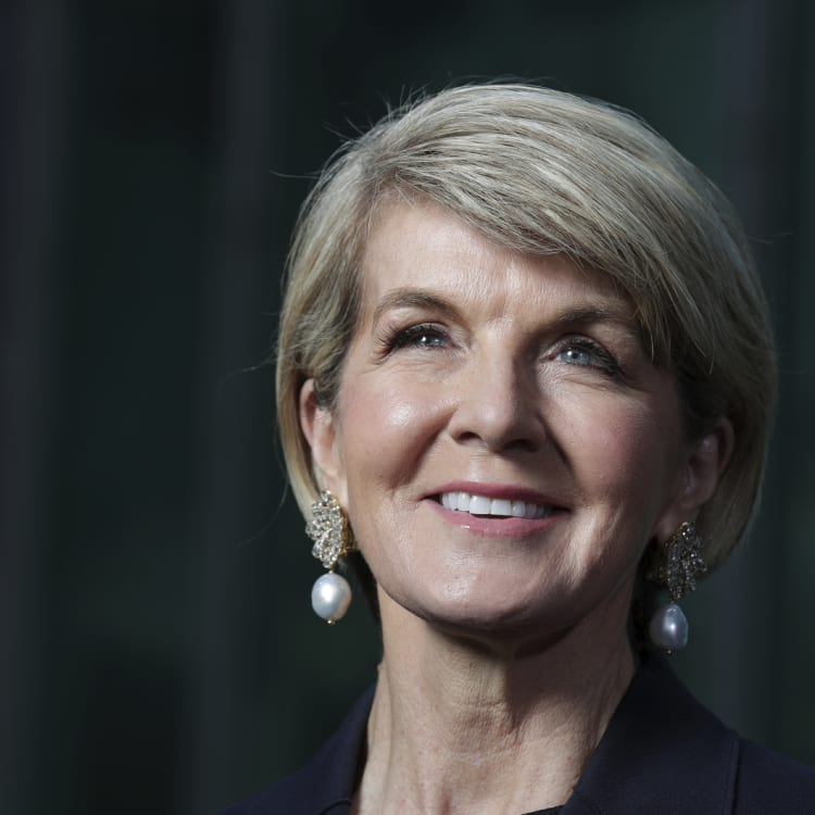 Julie Bishop thanks her colleagues, friends and family during her final press conference as foreign minister.