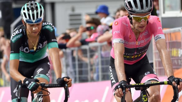 Exhausted Yates has Giro lead slashed in half
