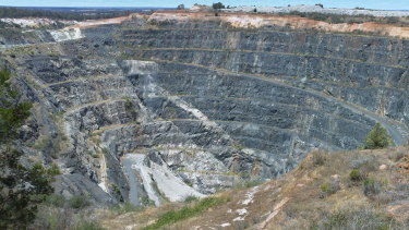 Greenbushes Lithium Mine in Western Australia.