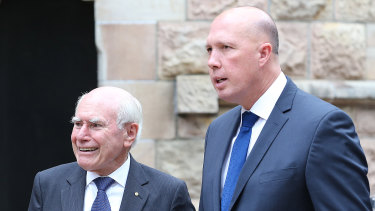 Former prime minister John Howard has given much need support to Home Affairs minister Peter Dutton's campaign.