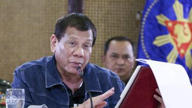 Philippine President Rodrigo Duterte authorised sweeping quarantines in Manila to fight the coronavirus.