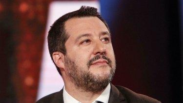 Italian Deputy Premier and Interior Minister Matteo Salvini.