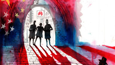 FBI agents have asked universities if Huawei may have stolen important intellectual property. Illustration: David Rowe