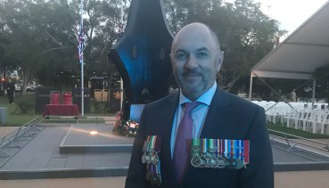Working to support veterans … CSC's David Wilton.