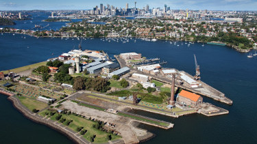 Cockatoo Island on Sydney Harbour.