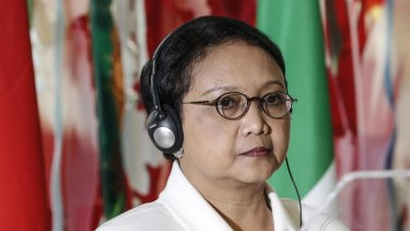 Reacted to Jerusalem proposal: Indonesian Foreign Minister Retno Marsudi.