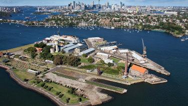 Cockatoo Island on Sydney Harbour.