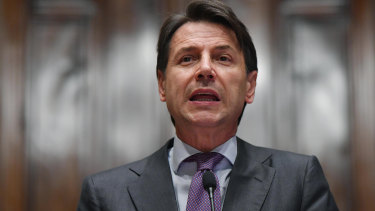Giuseppe Conte doing his day job.