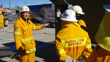 Volunteer Fire Fighters Association president and firefighter Mick Holton.