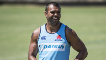 Reshuffle: Kurtley Beale will start at fullback in Israel Folau's absence.