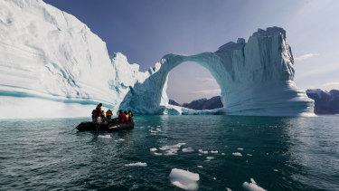 Greenland's icebergs.
