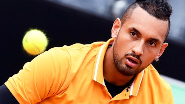 A win over Jordan Thompson would set up a likely second-round meeting with Rafael Nadal for Nick Kyrgios.