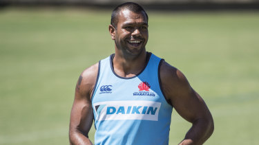 Reshuffle: Kurtley Beale could start at fullback in Israel Folau's absence.