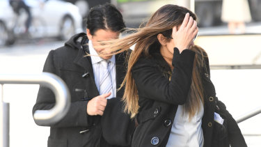 Alvaro (left) and Josie Gonzalez arrive to the County Court on Tuesday.
