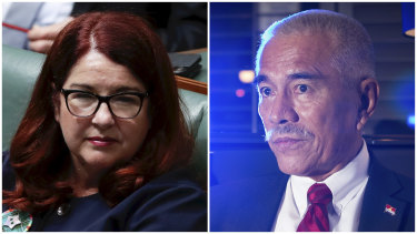 Melissa Price and former Kiribati president Anote Tong.