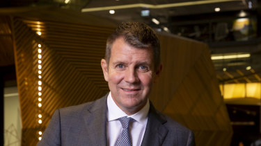 Former NSW premier Mike Baird announced his resignation from NAB in March.