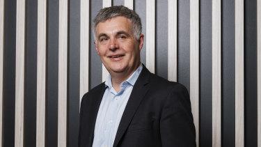 NBN Co boss Stephen Rue announced third quarter results on Thursday.