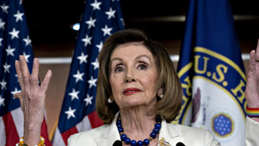Democratic House speaker Nancy Pelosi has overseen the impeachment process against Trump.