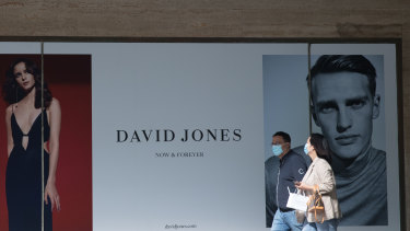 David Jones' sales have plunged in the last five months.