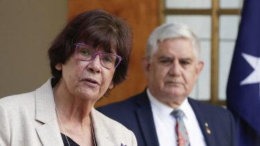 Pat Turner with Minister for Indigenous Australians Ken Wyatt.